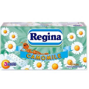 Regina туалетная бумага, camomilla, 8 рулонов, 3 слоя, 150 отрывов в рулоне (38506)