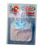 Camera пустышка силиконовая круглая для мальчика, 0-6 месяцев, 1шт (84942)