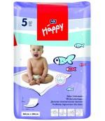 Happy  одноразовые пеленки для детей, впитывающие, 90*60см, 5шт (01652)