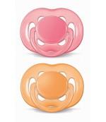 Philips AVENT пустышки симметричные Free Flow Classic, 6-18 месяцев, 2шт  (98117)(89383)
