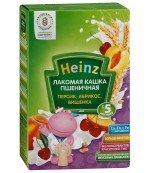 Heinz  Лакомая каша пшеничная (персик, абрикос, вишня) 5 месяцев 200 гр  (01398)