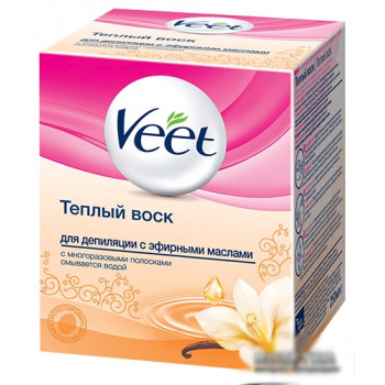 Veet теплый воск для депиляции, с эфирными маслами, 250мл (01058)