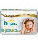 Pampers Premium Care new born #0 подгузники, 2,5 кг, 30шт (36857)