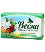 Весна туалетное мыло, жасмин и зеленый чай, 90гр (11323)