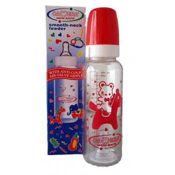 Camera пластиковая бутылочка для кормления, с круглой силиконовой соской, 1 капля, 0-24 месяцев, 240мл 10039-A (00399)(00397)