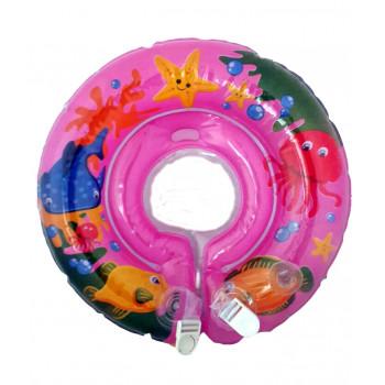 Круг надувной для купания младенцев,розовый, 1шт (81539)