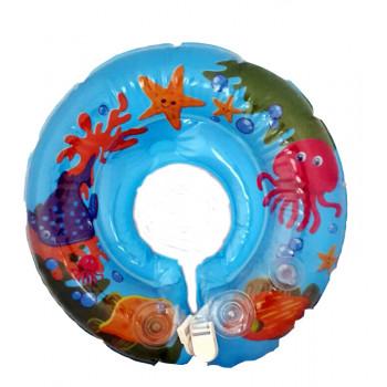 Круг надувной для купания младенцев, синий, 1 шт (81515)