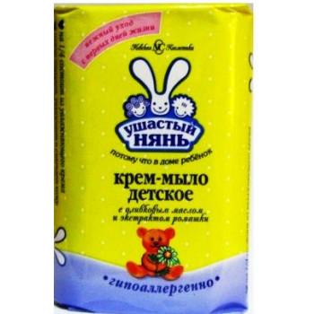 Ушастый нянь детский крем-мыло, с Оливковым маслом и Ромашкой, 90гр (01972)